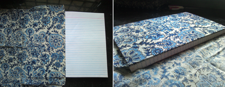 Step by Step Instructions on making Handmade Book Covers in Traditional Fabrics