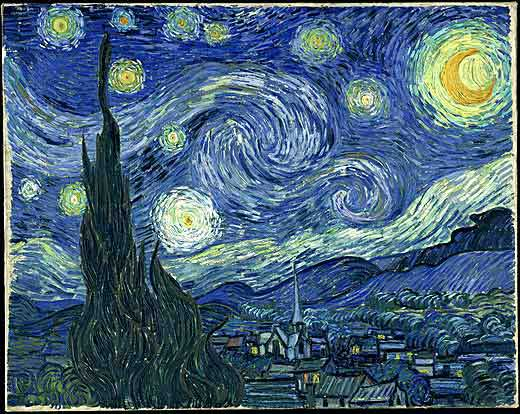 Starry Night-Vincent Van Gogh's Impressionist Painting