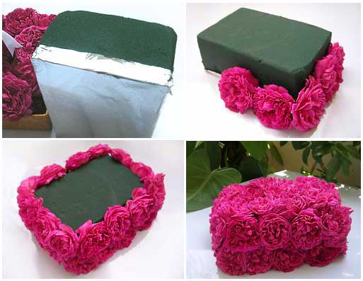 DIY Tutorial on Gifting Roses Box or Making a Floral Centerpiece