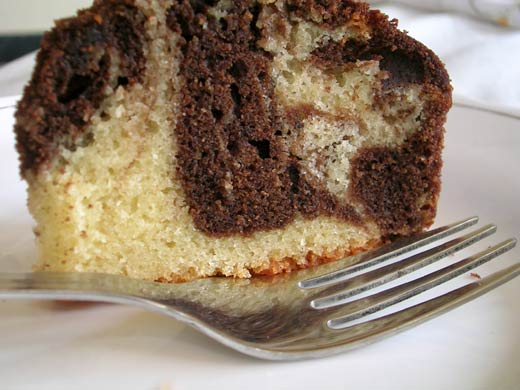 Swirly Marble Cake - Get your dose of Chocolate & Vanilla in one Go!