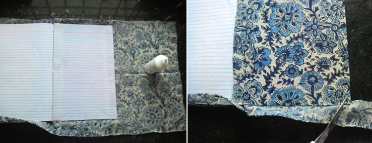 Indian Fabrics - Kalamkari Cloth Book Covering and Book Binding Instructions
