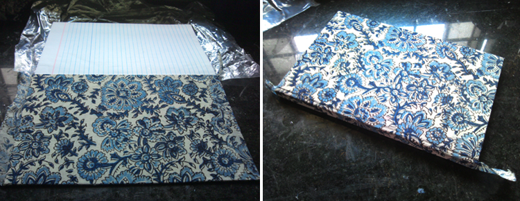 How to make a cloth book cover - easy tutorial on book binding and covering