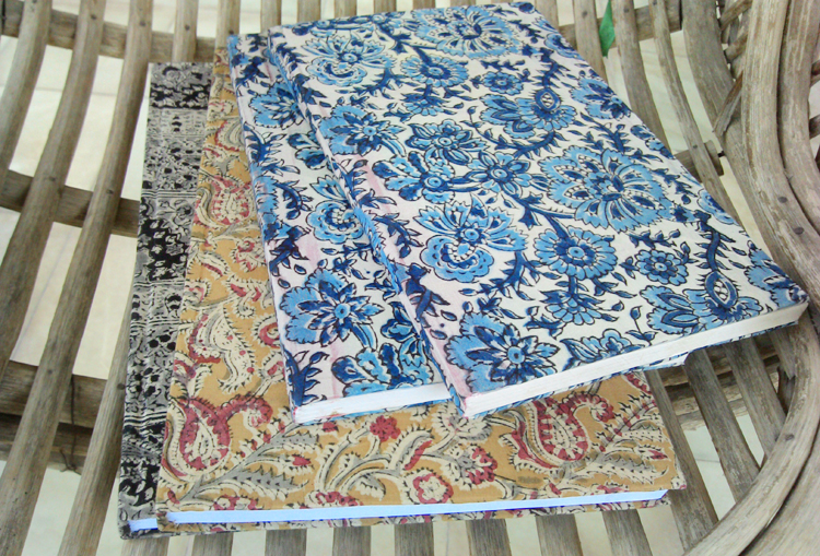 Kalamkari book covers and handmade products