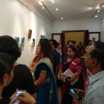 Guests studying Gayathri Krishna's works