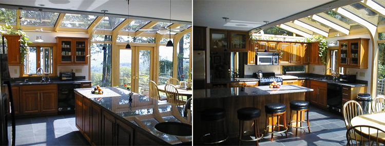 Sunroom kitchens and sunlit cooking places are great for cooking and entertaining
