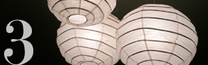 Rice Paper Lantern Chandeliers